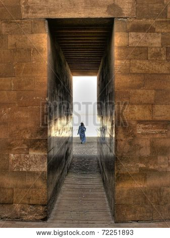Entrance To The Djoser Mortuary Complex At Saqqara (egypt)