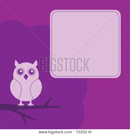 frame with night owl