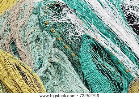 Closeup Of Varicolored Netting