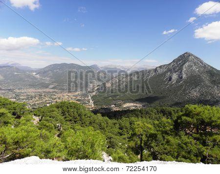 Landscape of mountains around Kadyanda.