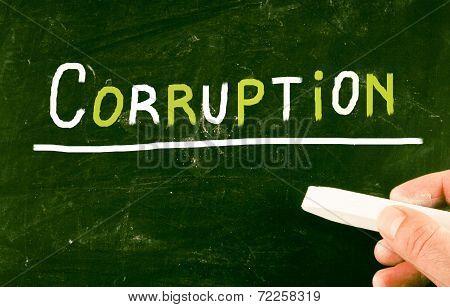 Corruption Concept