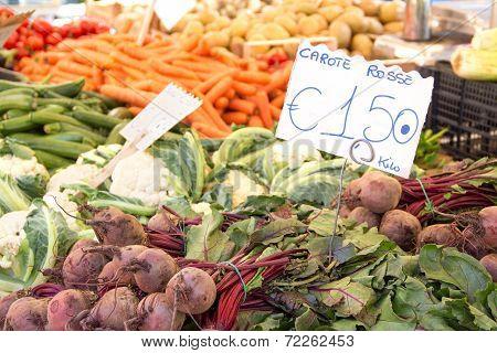 Vegetables on farmer's market