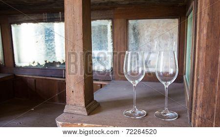 Dusty Wine Glasses