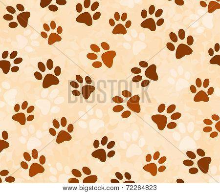Animal pawprints background