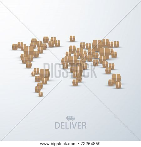 vector modern concept delivery background.