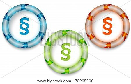 Three Frames With Color Backlight And Paragraph