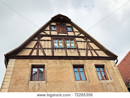 Facade Of Medieval House,  Rothenburg Ob Der Tauber, Germany