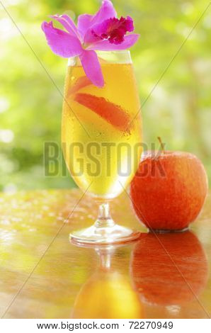 Apple Juice And Red Apple