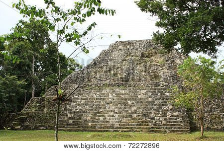 Ruins of Mayan temple at Yaxha, Guatemala