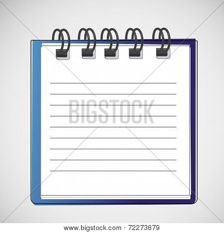Vector notebook on a spring with clean sheets