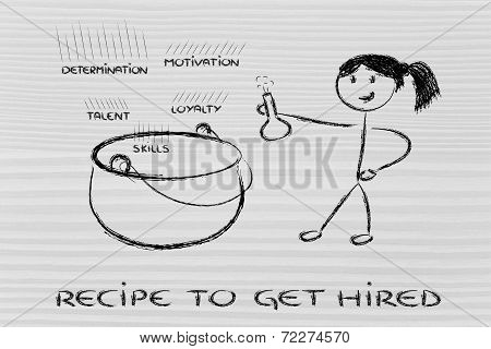 Funny Girl Creating The Recipe To Get Hired