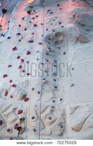 Lights And Bells On Rock Climbing Wall