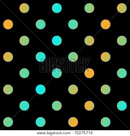 Modern polka dots background