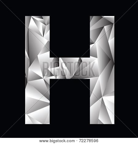 Crystal Letter  H