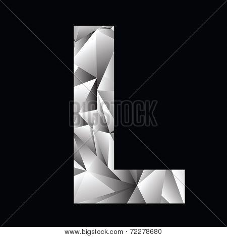 Crystal Letter  L