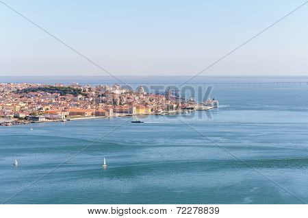 Panoramic View Of Lisbon Old Town