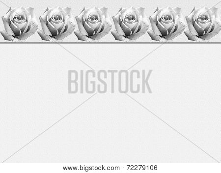 Sympathy Card Design With Ornamental Rose Border