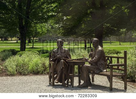 The Roosevelts In Bronze
