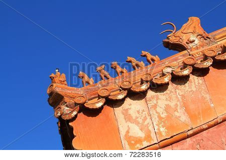 The roof of ancient Chinese architecture