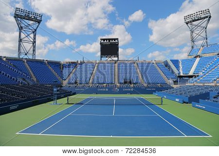 Luis Armstrong Stadium at the Billie Jean King National Tennis Center during US Open 2014 tournament