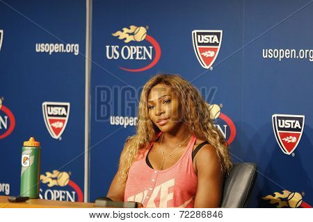 Grand Slam champion Serena Williams during US Open 2014 press conference