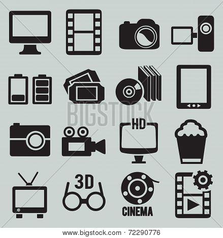 Set Of Movie Icons