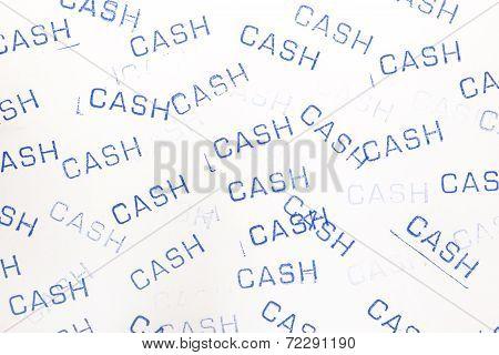 Rubber Stamp Cash Pattern