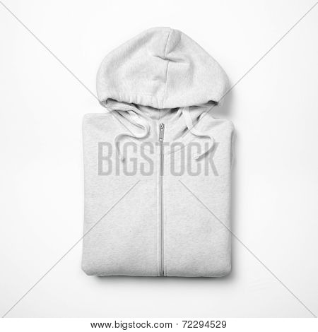 White Hoodie Isolated On White