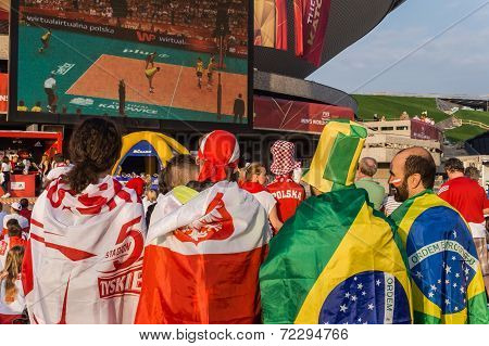 Polish and Brazilian fans