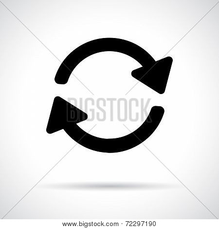 Recycle icon.Preloader icon.