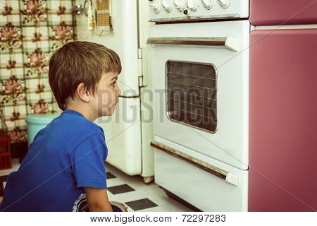 Looking At Oven