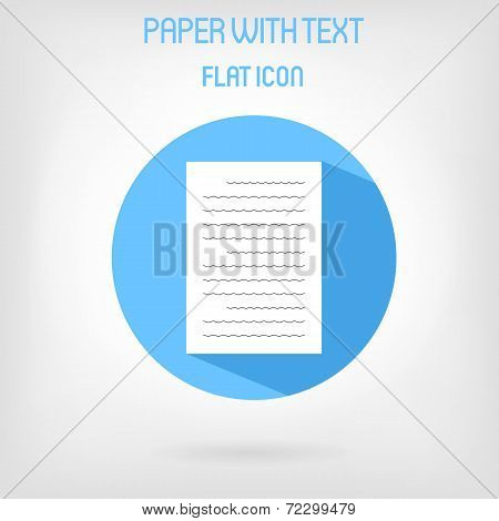 Paper list icon in flat style