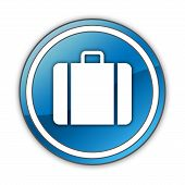 picture of carry-on luggage  - Icon Button Pictogram Image Graphic with Luggage symbol - JPG