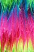 image of nylons  - Colorful neon nylon fibers or faux fur background vertical - JPG