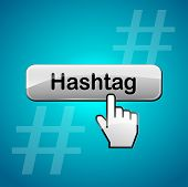 picture of hashtag  - illustration of hashtag abstract concept web button - JPG