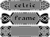stock photo of celtic  - Set celtic frame an element of design vector - JPG