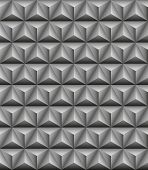 picture of triangular pyramids  - Abstract pattern of gray stone tripartite pyramids - JPG