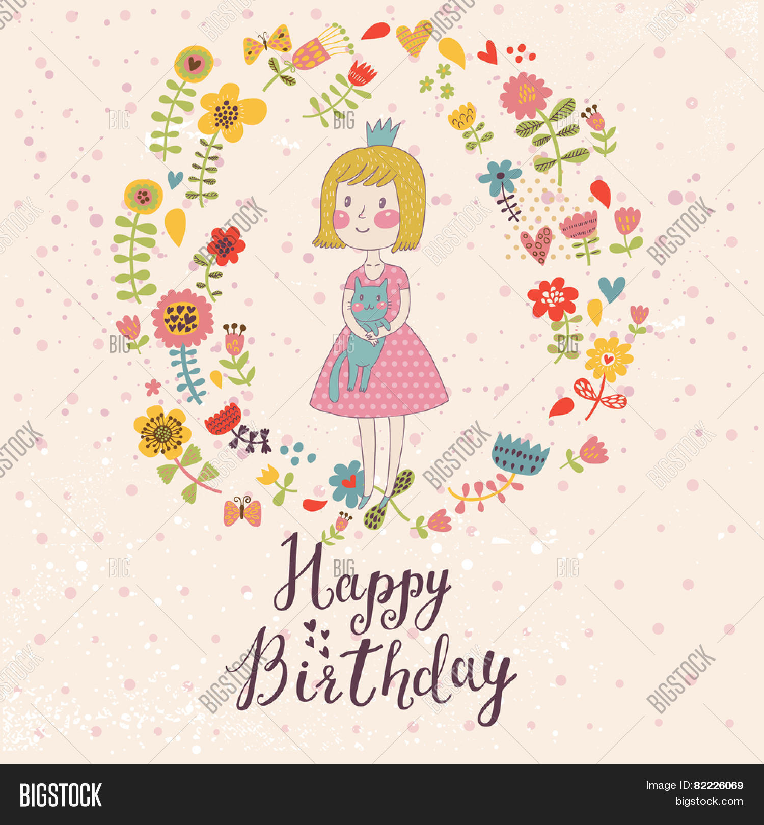 Awesome Happy Birthday Card Vector &