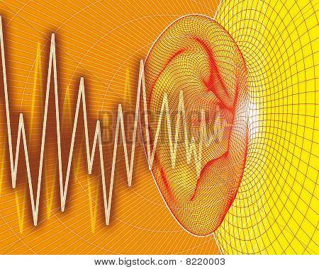 Ear sound waves