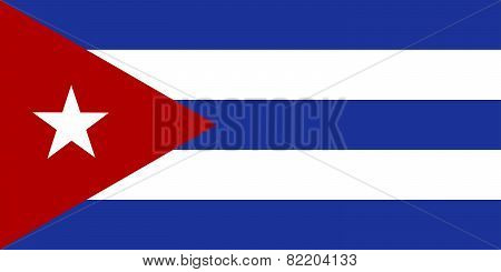 Republic Of Cuba Official Flag