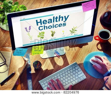 Herbal Medicine Healthy Choices Healthcare and Medicine Concept