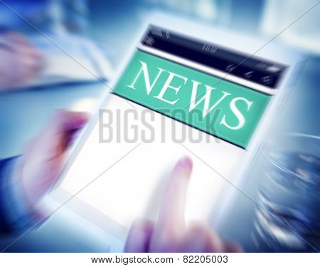 Digital Online Report Update News Concept