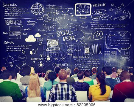 Group of People in a Social Media Seminar
