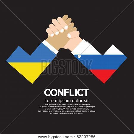 Ukraine Vs Russia Arm-wrestle.