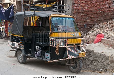 Auto Rickshaw Or Tuk-tuk On The Street
