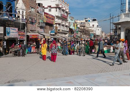 On The Street In Amritsar. Punjab. India.