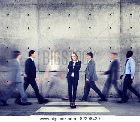 Businesswoman Individuality Role Model Modern Organization Concepts