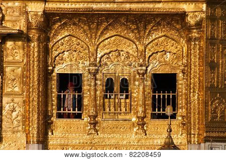 Windows Of Golden Temple In Amritsar. India