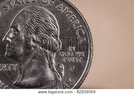 Us American Coin With Wording