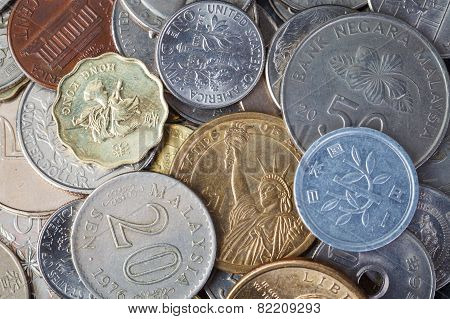 Us American Coin And Many International Currency